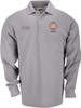 Officer's Decorated Polo -  Heather Grey, L/S