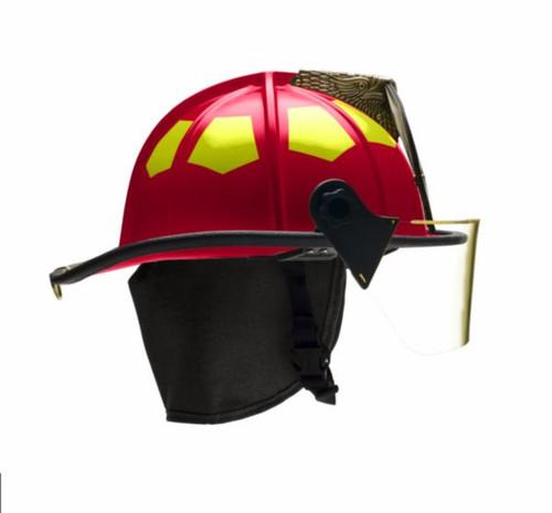 "White USTM Bullard Helmet with 4"" Polyarylite Facemask"