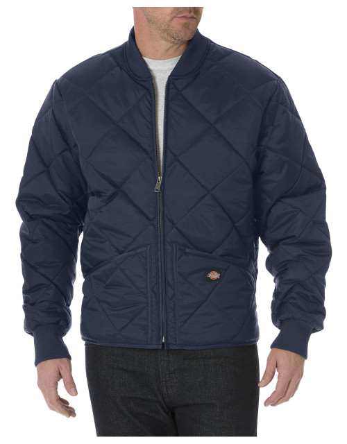 Dickies Diamond Quilted Jacket - Front View - 61242