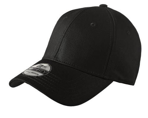 New Era Structured Stretch Cotton Cap - Black