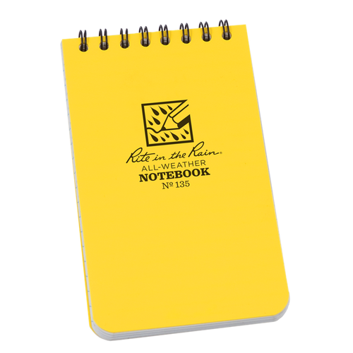 Rite in the Rain Original Yellow Top Spiral Waterproof Notebook