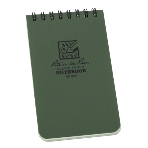 Rite in the Rain Green Top Spiral Waterproof Notebook