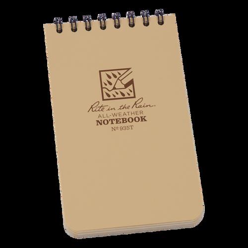 Rite in the Rain Tan Top Spiral Waterproof Notebook