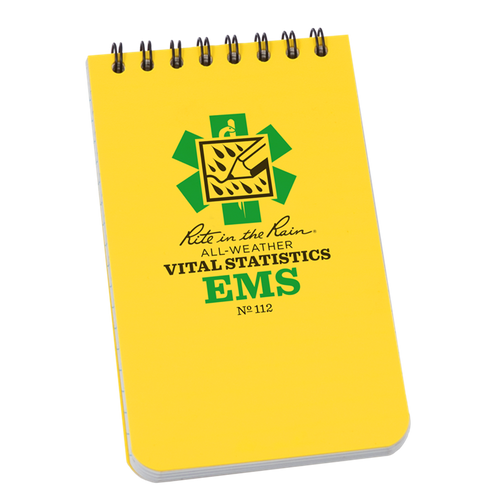 Rite in the Rain EMS Vital Statistics Top Spiral Waterproof Notebook