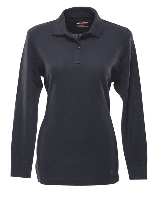 Tru-Spec Women's Long Sleeve Classic 100% Cotton Polo - Navy