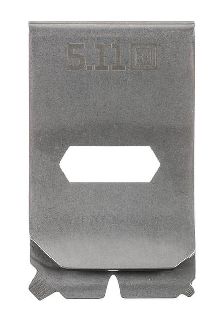 5.11 Multitool Money Clip - Steel - Front