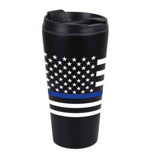 Rothco Thin Blue Line Travel Mug