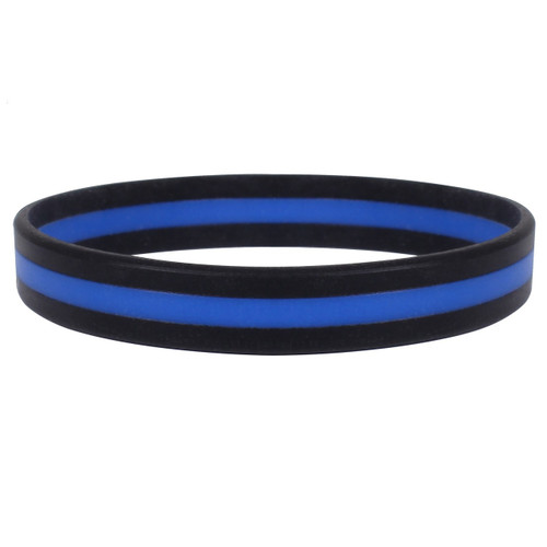 Blue Line Silicone Wrist Band