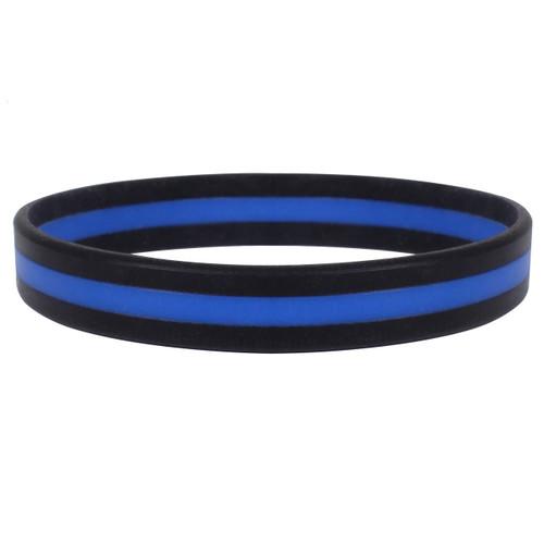 Blue Line Silicone Wrist Band