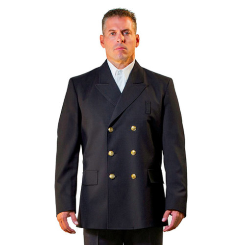 Anchor Uniform Double Breasted Wool Blend Class A Dress Coat - Front View