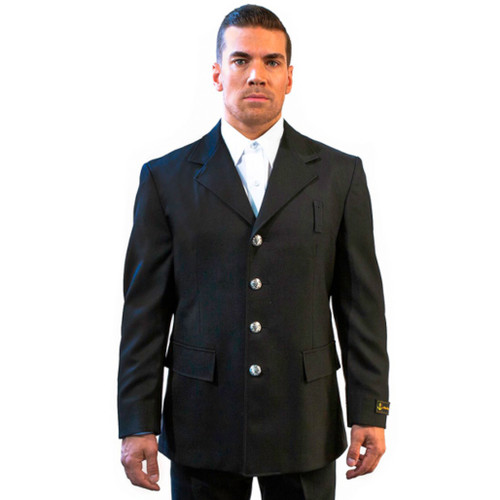 Anchor Uniform Single Breasted Wool Blend Class A Dress Coat - Front View