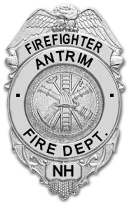 Antrim New Hampshire Fire Department Badge