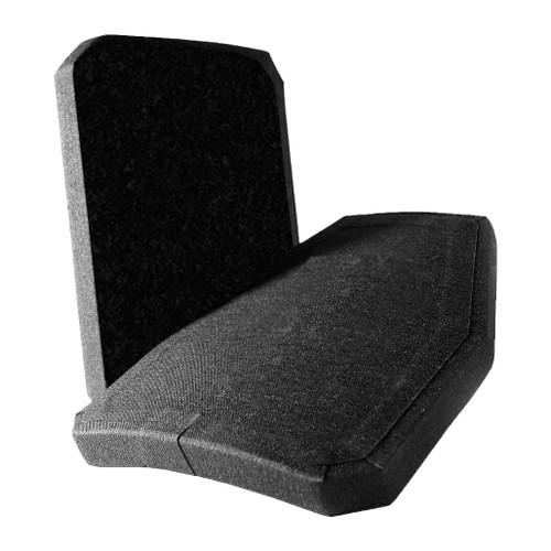 United Shield International Zeta-6H Level IV Bullet Proof Ballistic Plating - Standard Cut Back plate, Shooters' Cut front plate