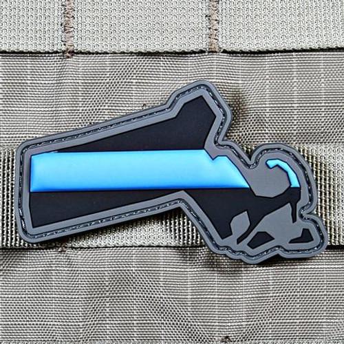 Blue Line Massachusetts PVC Morale Patch