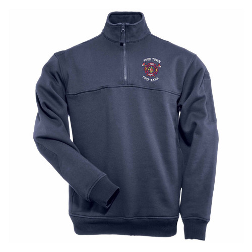 Custom Embroidered Fire Department 5.11 1/4 Zip Jobshirt