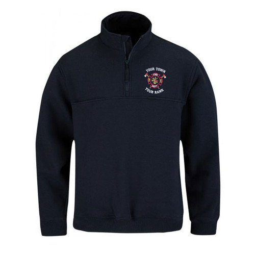 Propper 1/4 Zip Job Shirt in Navy at East Coast Emergency Outfitter with Custom Decoration