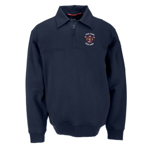 5.11 Canvas Collar Jobshirt with Custom Fire Department Embroidery