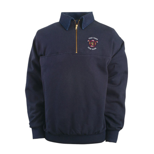 Game Sportswear's 8020 Defender Work Shirt with custom fire department embroidery