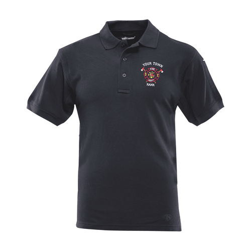Custom fire department embroidery on a 4412 Tru Spec Classic 100% Cotton Polo