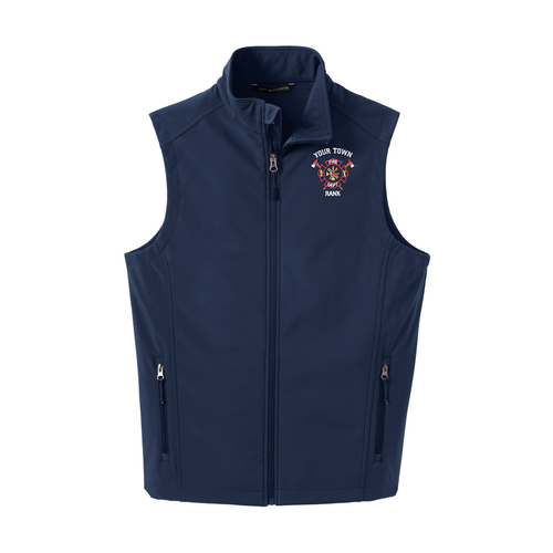 Port Authority Core Soft Shell Vest w/ Custom Fire Department Embroidery (J325C)