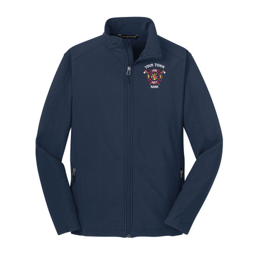 Port Authority Core Soft Shell Jacket w/ Custom Embroidery (J317) - Front View, Embroidered