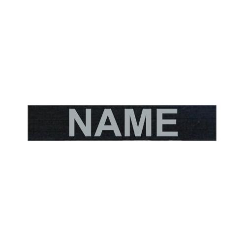 """Custom 5"""" Black Ripstop Nametape w/ Velcro"""