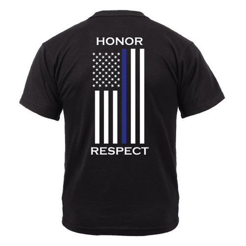 Rothco® Honor & Respect 2-Sided Thin Blue Line Flag T-Shirt (1844)