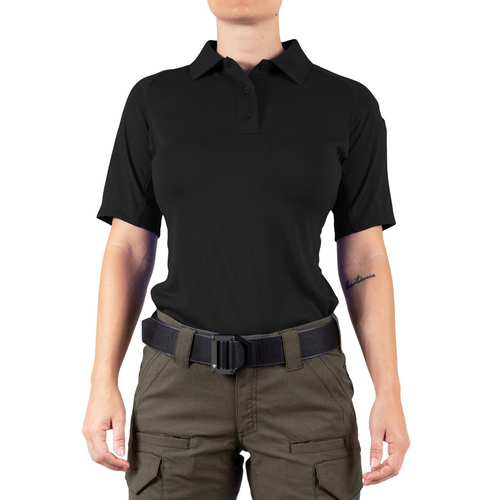 First Tactical Women's Performance Short Sleeve Polo (122509) - Black