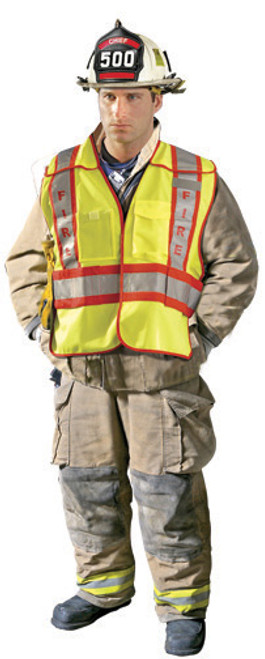 Premium Solid Public Safety Vest - Fire