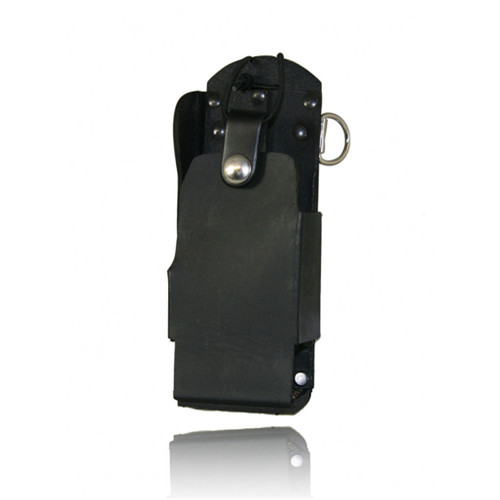 Boston Leather Firefighter's Radio Holder with D Rings and No Window - Fits the Motorola XTS 1500, 2500, and 500