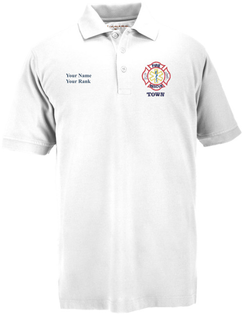 Officer's Decorated Polo -  White, S/S