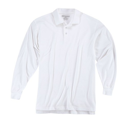 Long Sleeve Professional Polo - White (010)