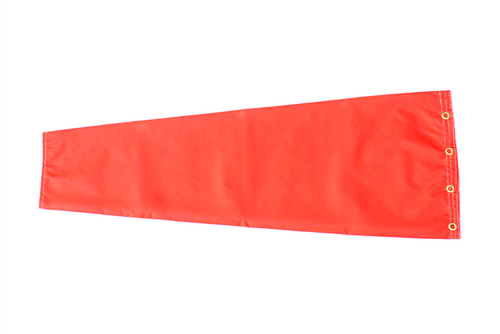 "12"" diameter x 48"" long nylon windsock for commercial, industrial and aviation industries."