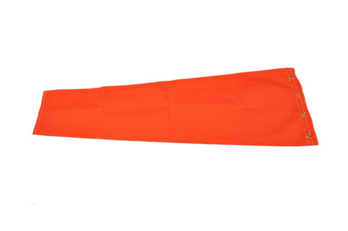 "Heavy Duty 10"" diameter  x 42"" long Cotton Duck (Canvas) windsock for commercial, industrial and aviation industries. WC10D"