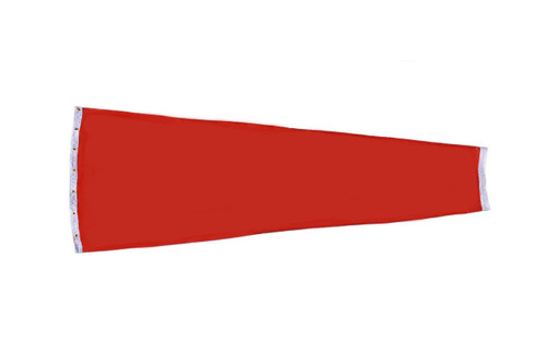 "Heavy Duty 18"" x 60"" Cotton Duck (Canvas) windsock for commercial, industrial and aviation industries."