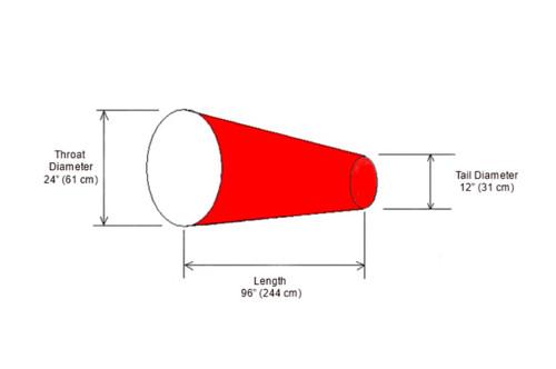 "24"" x 96"" Windsock Diagram"
