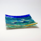 Stormy Seas Glass Platter