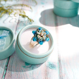 Lampwork Glass in Sterling Silver Ring