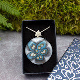 Halo Glass Pendant (Turquoise and White)