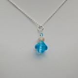Galiani Glass Bombay Sapphire Pendant with Silver Chain