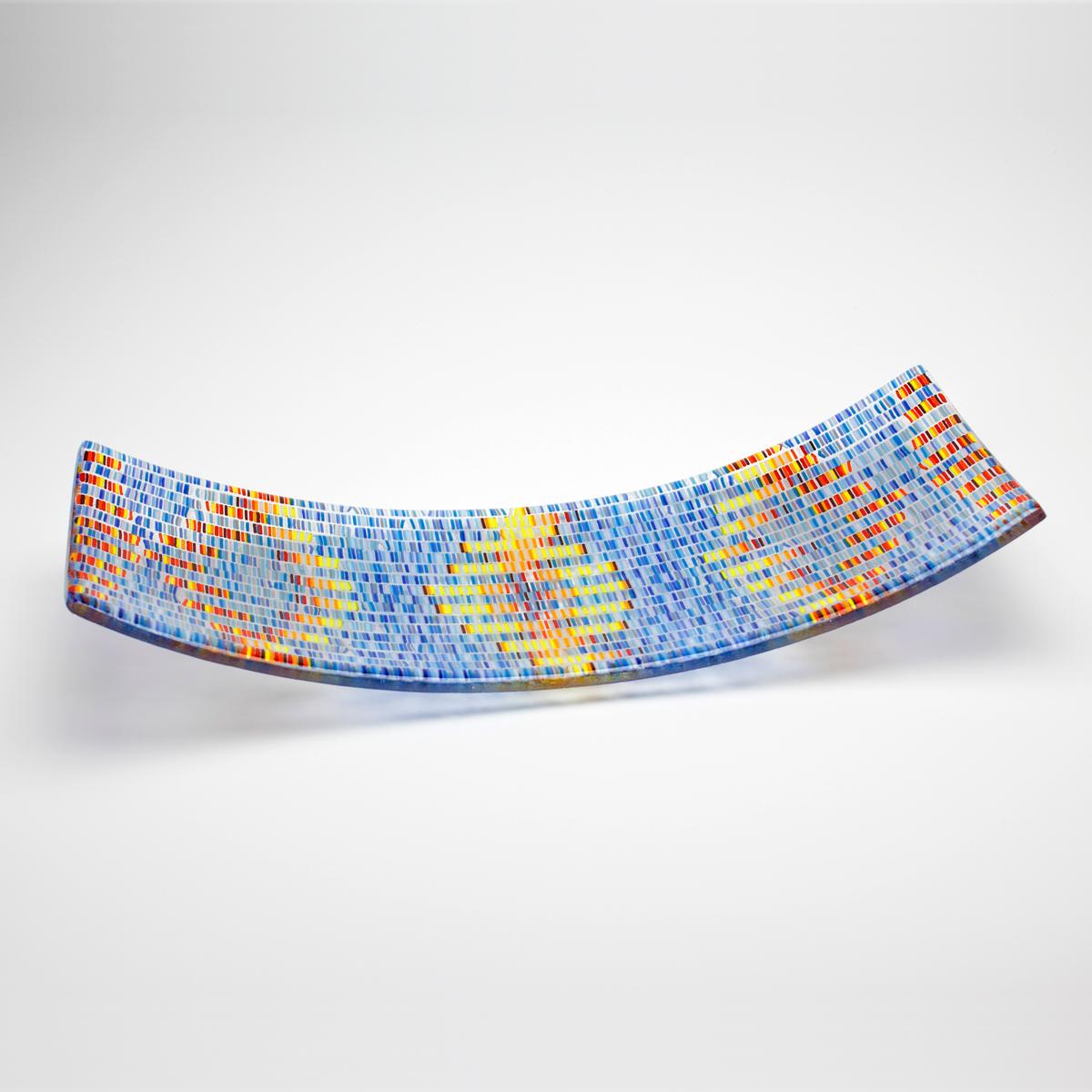 Arazzo Collection: Kilnformed Glass Platter by Galiani Glass Art