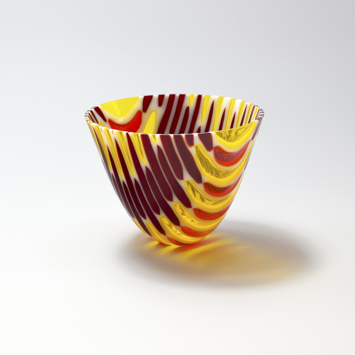 Vortex Vessel I in red, orange and yellow