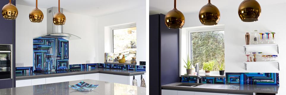 Galiani Glass - Kitchen Splashback and Fused Glass Splashback Surrounds