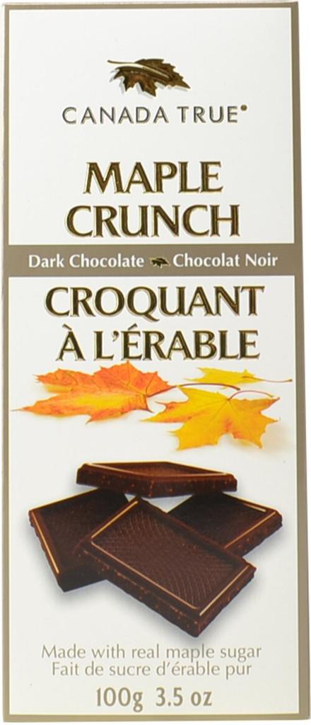 Canada True Maple Crunch Milk Chocolate - Box (3 Pack of 100 g)