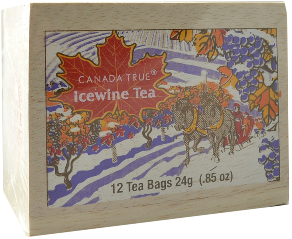 Canada True Icewine Tea - Scenic Wood Box (3 Pack of 12 Bags)