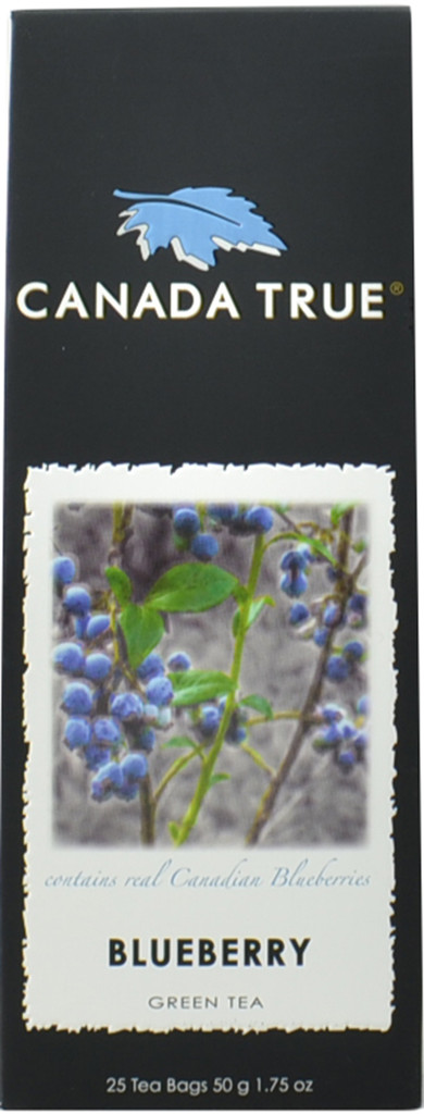 Canada True Blueberry Green Tea - Canadian Harvest Box (3 Pack of 25 Bags)