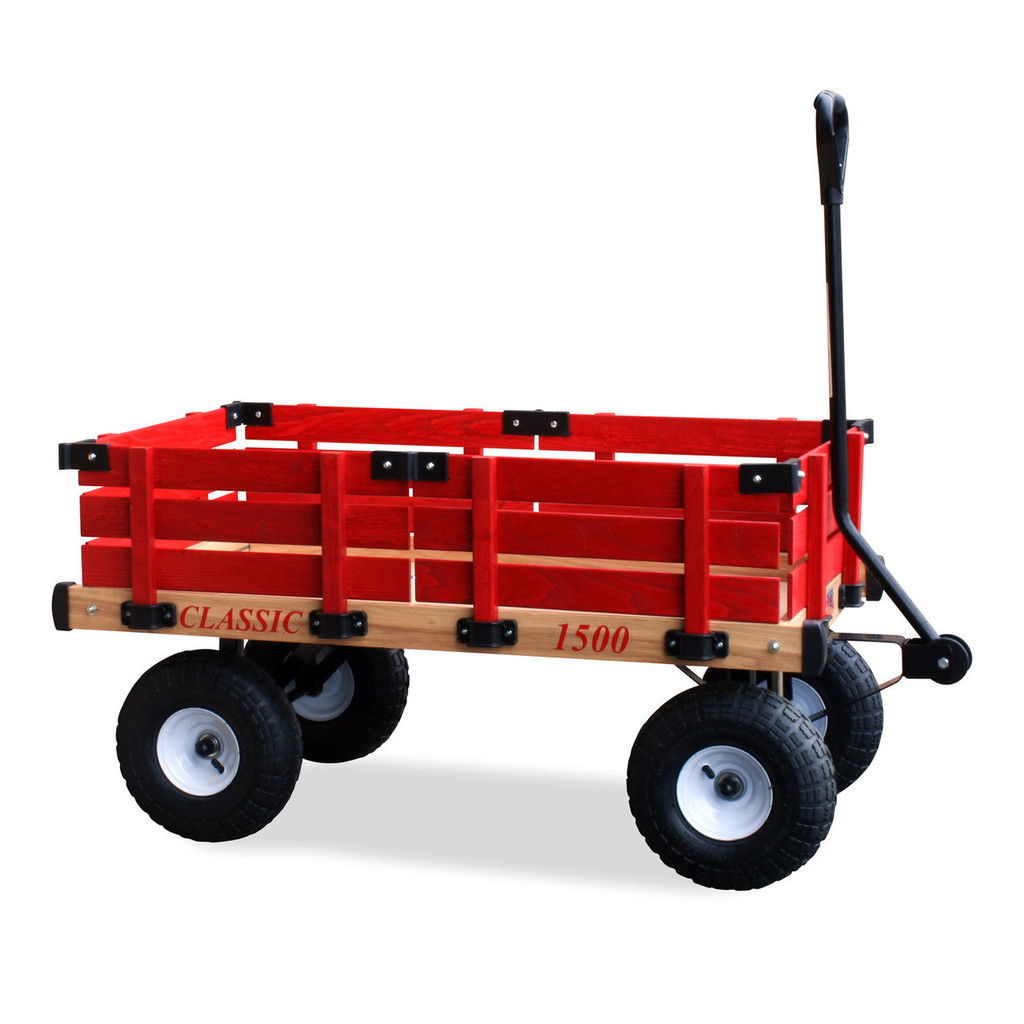 Classic Red Wooden Wagon by Millside Industries - Ships in Canada Only
