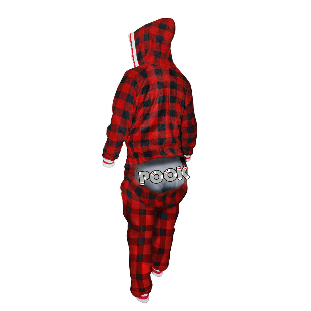 Onesie / Onezy (Adult Red Plaid) by Pook