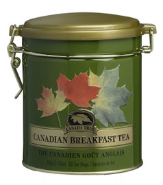 Canada True Canadian Breakfast Tea Tin (3 Pack of 30 Bags)