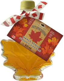 Canada True Maple Syrup - Maple Leaf Bottle (2 Pack of 100 mL)